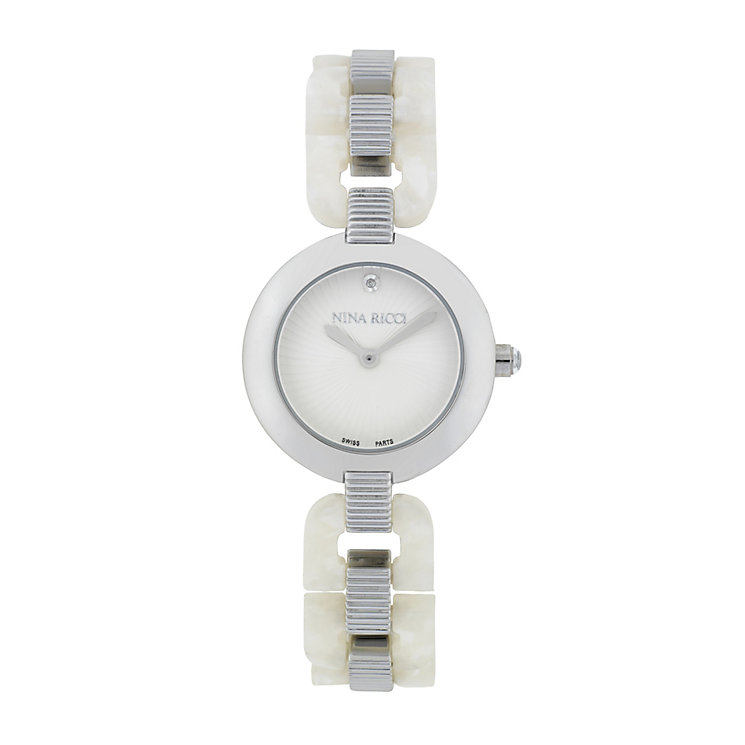 Nina Ricci Ladies' Stainless Steel Circular Dial Watch - Product number 9649581