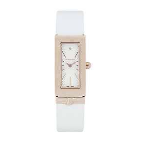 Nina Ricci Ladies' Rose Gold Rectangle Watch - Product number 9649743