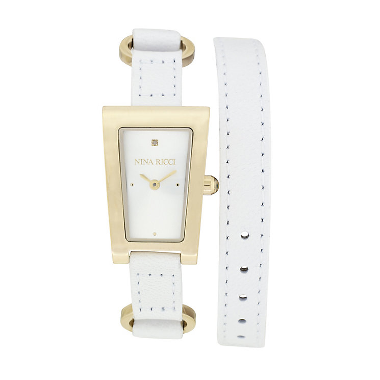 Nina Ricci Ladies' Gold Plated Rectangle Watch - Product number 9649786
