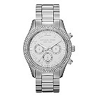 Michael Kors ladies' stainless steel stone set watch - Product number 9650644