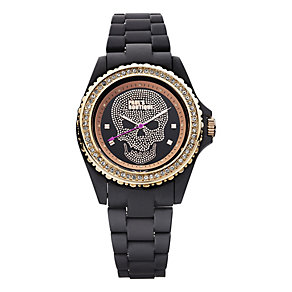 Paul's Boutique Black & Rose Sun Ray Dial Bracelet Watch - Product number 9650679