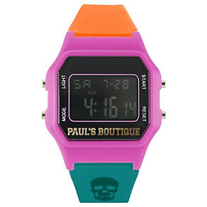 Paul's Boutique Ladies' LCD Skull Print Watch - Product number 9650695