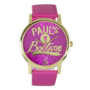 Paul's Boutique Pink Strap Watch With Snake Pattern Dial - Product number 9650725