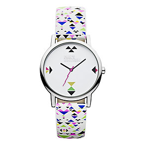 Paul's Boutique Ladies' Pattern Strap Watch With Silver Logo - Product number 9650733