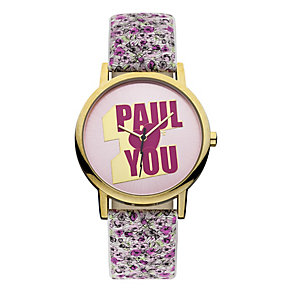 Paul's Boutique Floral Strap watch With Pink Logo Dial - Product number 9650768