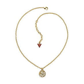 Guess Adjustable Gold Plated Crystal Ball Pendant - Product number 9653465
