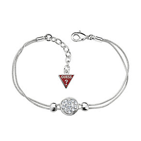Guess Sliding Into Love Rhodium Plated Adjustable Bracelet - Product number 9653589