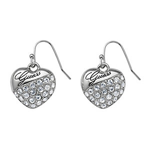 Guess Crystal Set Heart Drop Earrings - Product number 9654038