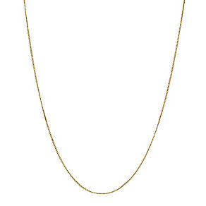 9ct Gold Fine Curb Chain 20