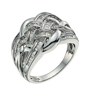 Sterling silver diamond weave ring - Product number 9657614
