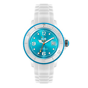 Ice-Watch Men's White and Turquoise Silicone Strap Watch - Product number 9659749