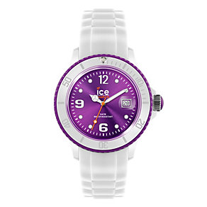 Ice-Watch Men's White and Purple Silicone Strap Watch - Product number 9659803