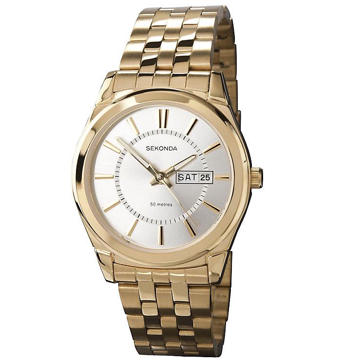 Sekonda Gent's Gold Plated Bracelet Watch - Product number 9660305