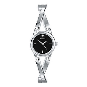 Sekonda Ladies' Stainless Steel Stone Set Bracelet Watch - Product number 9660429