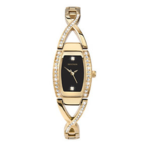 Sekonda Ladies' Gold Plated Stone Set Bracelet Watch - Product number 9660550