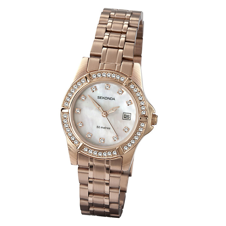 Sekonda Ladies' Stone Set Mother Of Pearl Bracelet Watch - Product number 9660615
