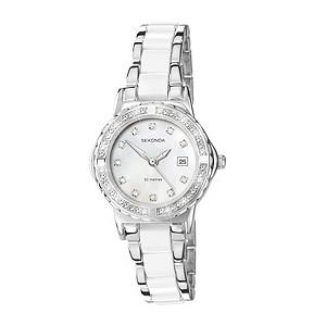 sekonda moonlight pearl white bracelet h