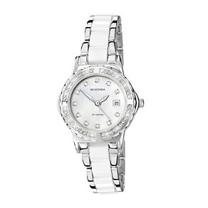 Sekonda Ladies' Moonlight Pearl White Bracelet Watch - Product number 9660623