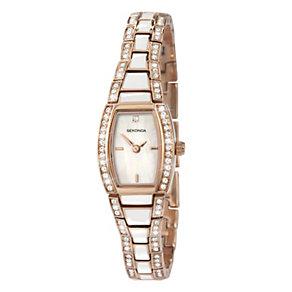 Sekonda Ladies' White & Rose Gold Plated Bracelet Watch - Product number 9660658