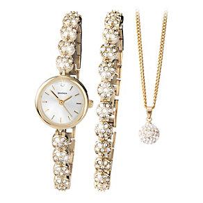 Sekonda Ladies' Watch, Bracelet & Necklace Set - Product number 9660666
