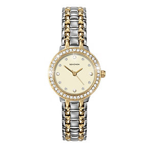Sekonda Ladies' Two Tone Stone Set Bracelet Watch - Product number 9660933