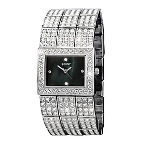 Seksy Ladies' Stone Set Stainless Steel Bracelet Watch - Product number 9661042