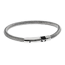 Emporio Armani Men's Stainless Steel Eagle Logo Bracelet - Product number 9661832