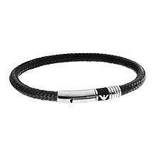 Emporio Armani Men's Black Eagle Logo Bracelet - Product number 9661875