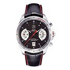 TAG Heuer Grand Carrera black leather strap watch - Product number 9662154
