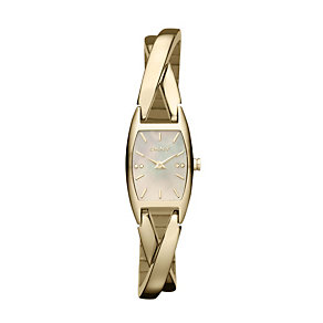 DKNY ladies' gold plated twist bangle watch - Product number 9662596