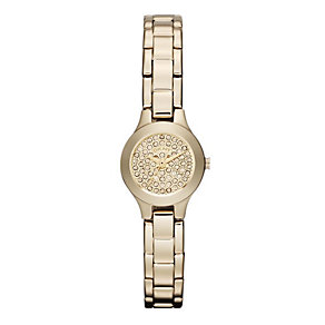 DKNY ladies' gold plated stone set bracelet watch - Product number 9662618