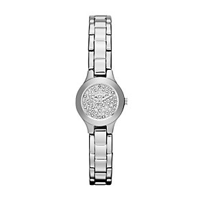 DKNY ladies' stainless steel stone set bracelet watch - Product number 9662812