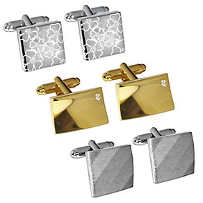 Men's Three Piece Cufflink Set - Product number 9663916