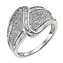 18ct white gold 0.66 carat cocktail ring - Product number 9664270