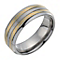 Titanium Two Colour Line Groove Ring - Product number 9666516