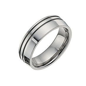 Titanium Two Groove Ring - Product number 9666648