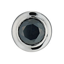 Stainless Steel Men's Black Crystal Stud Earring - Product number 9667067