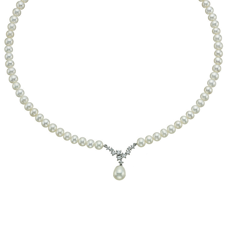 9ct white gold cultured freshwater pearl  collar - Product number 9667733