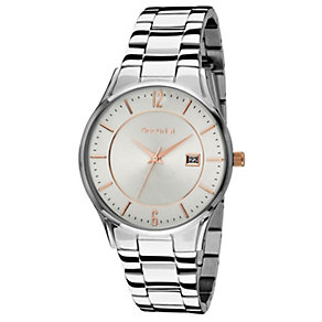 Accurist Men's Stainless Steel White Dial Bracelet Watch - Product number 9668012