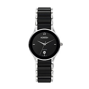 Roamer ladies' stainless steel black bracelet watch - Product number 9668748