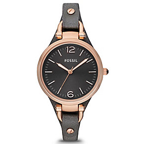 Fossil Ladies' Grey Dial Gunmetal Grey Strap Watch - Product number 9673644