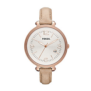 Fossil Ladies' Silver Dial Strap Watch - Product number 9673660