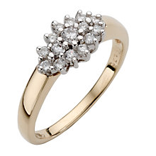 9ct gold third carat diamond cluster ring - Product number 9675760