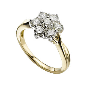 18ct gold one carat diamond ring - Product number 9675981