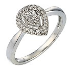 9ct white gold 12 point diamond pear cluster ring - Product number 9678166