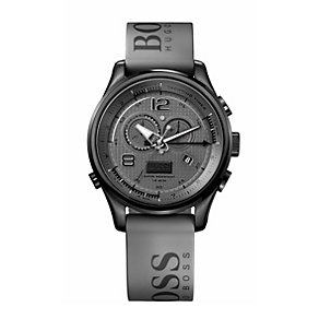 Hugo Boss Sailing men's grey ion plated strap watch - Product number 9678433