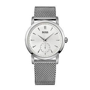 Hugo Boss men's stainless steel mesh bracelet watch - Product number 9678573