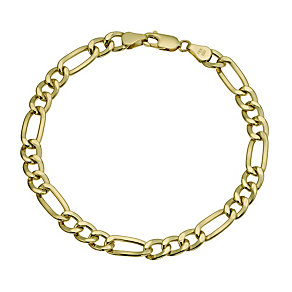 Together Bonded Silver & 9ct gold Fiagro Bracelet 8