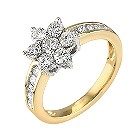18ct gold half carat diamond daisy cluster ring - Product number 9681043