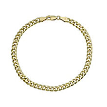 "Together Bonded Silver & 9ct Gold Curb Bracelet 8"" - Product number 9684212"